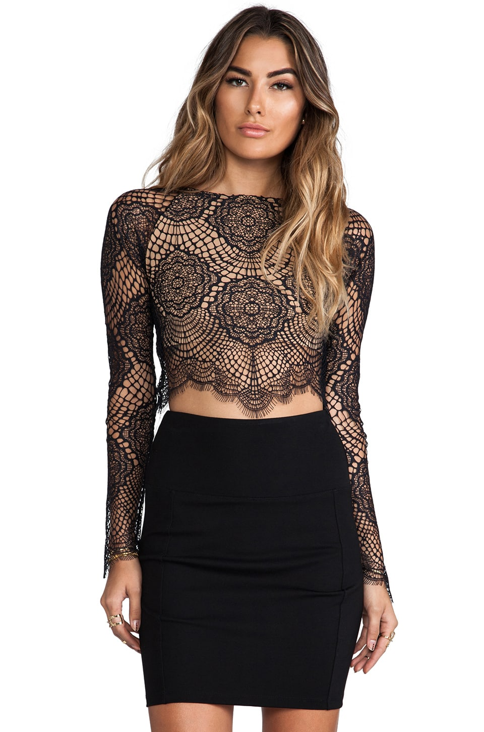 c0c5f81281c For Love & Lemons Grace Crop Top in Black | REVOLVE
