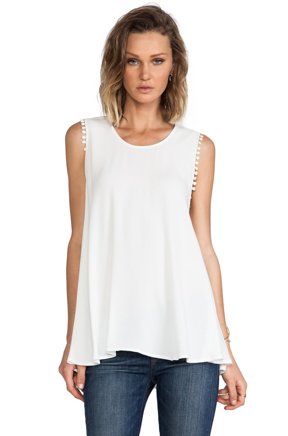 For Love & Lemons Lovely Tank in White