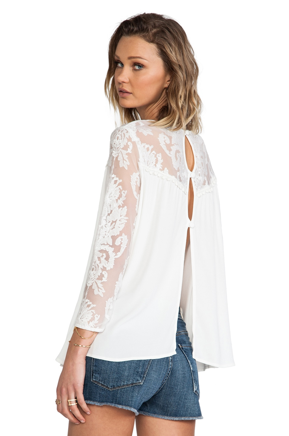 For Love & Lemons Bonita Blouse in Ivory
