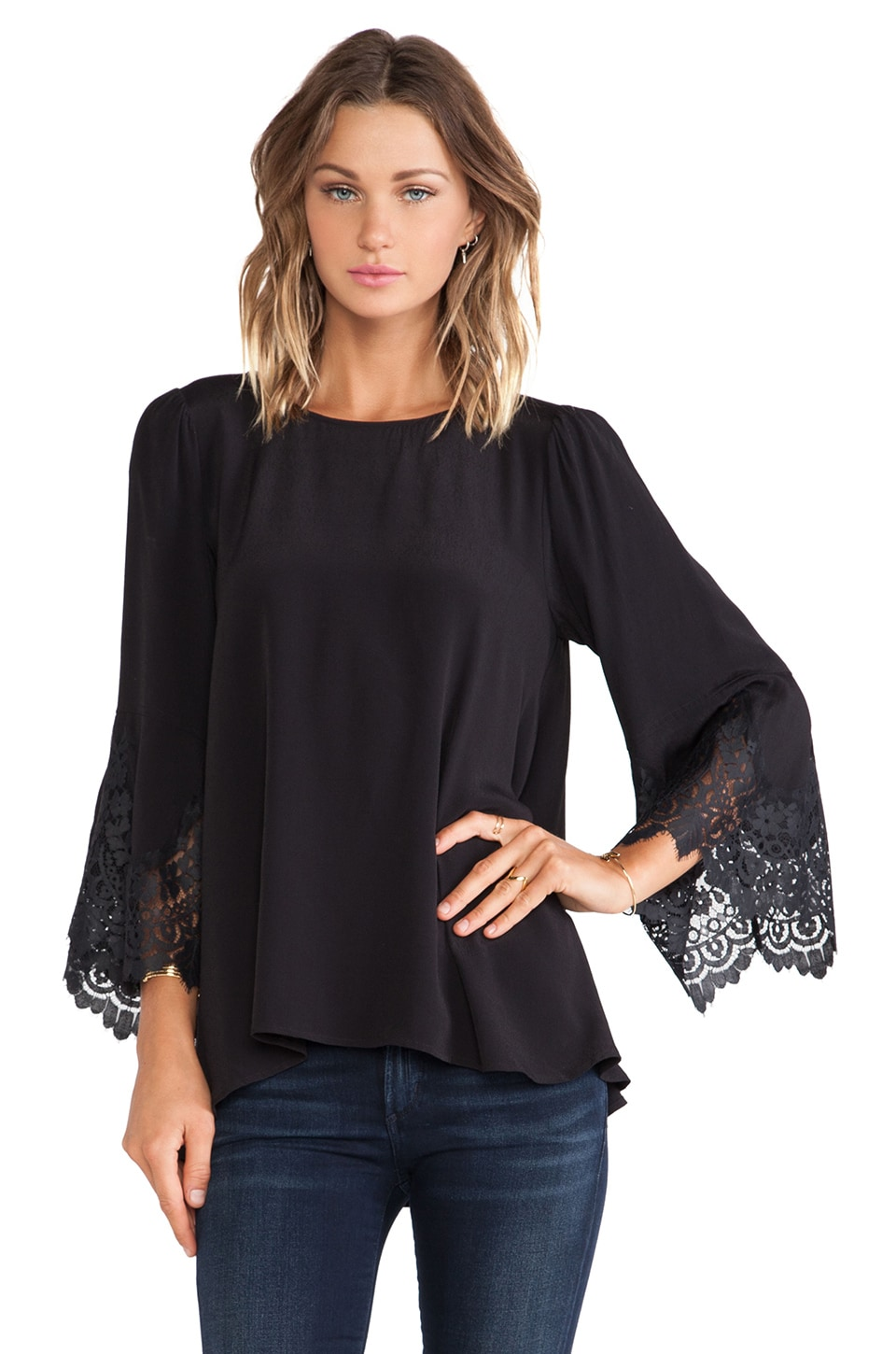 For Love & Lemons Bourbon Top in Black