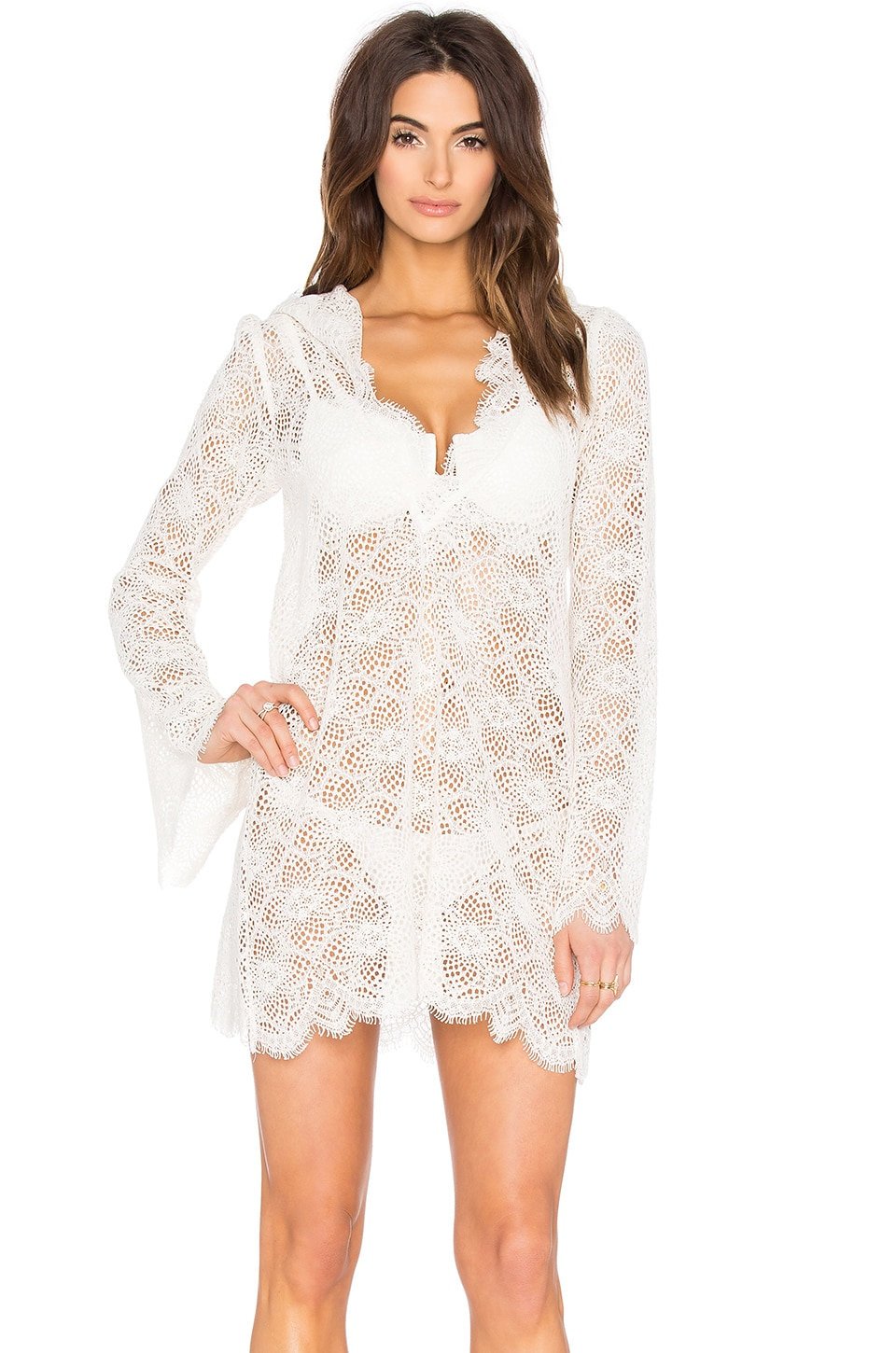 For Love & Lemons Cannes Cover Up in White