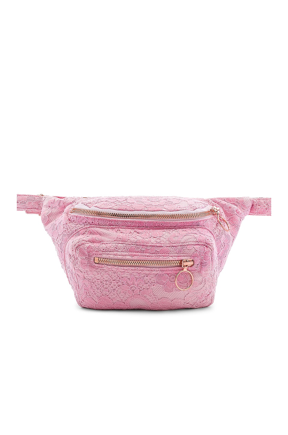 For Love & Lemons Lace Fanny Pack in Pink