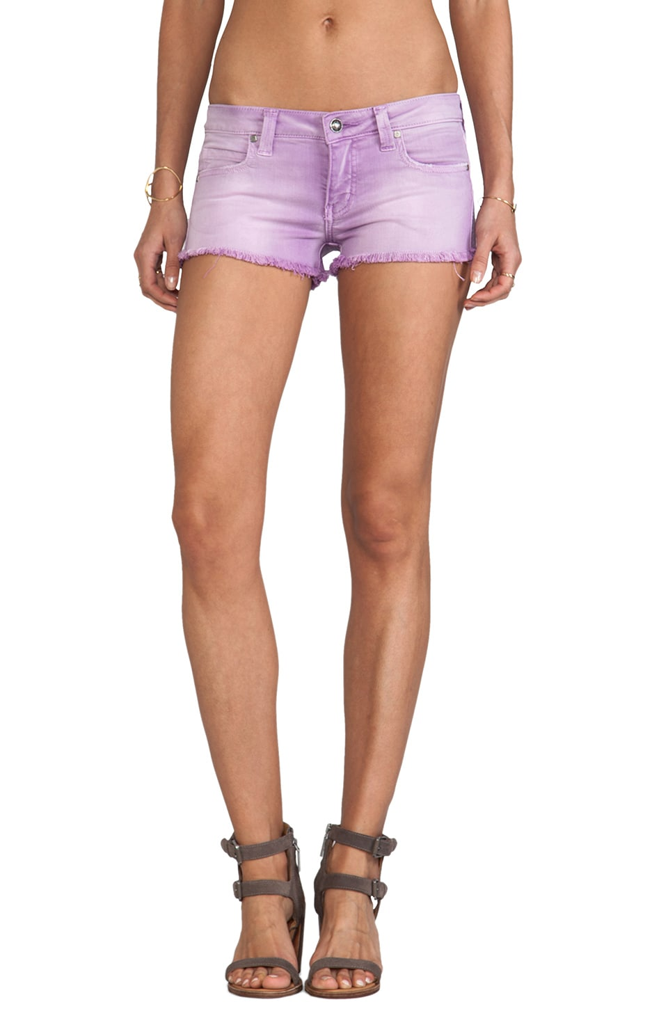 Frankie B. Jeans Summer Girl Short in Lilac