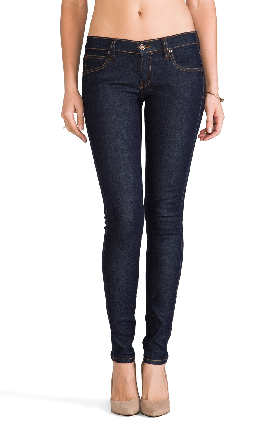 Frankie B. Jeans My BFF Clean Skinny in Black and Blue