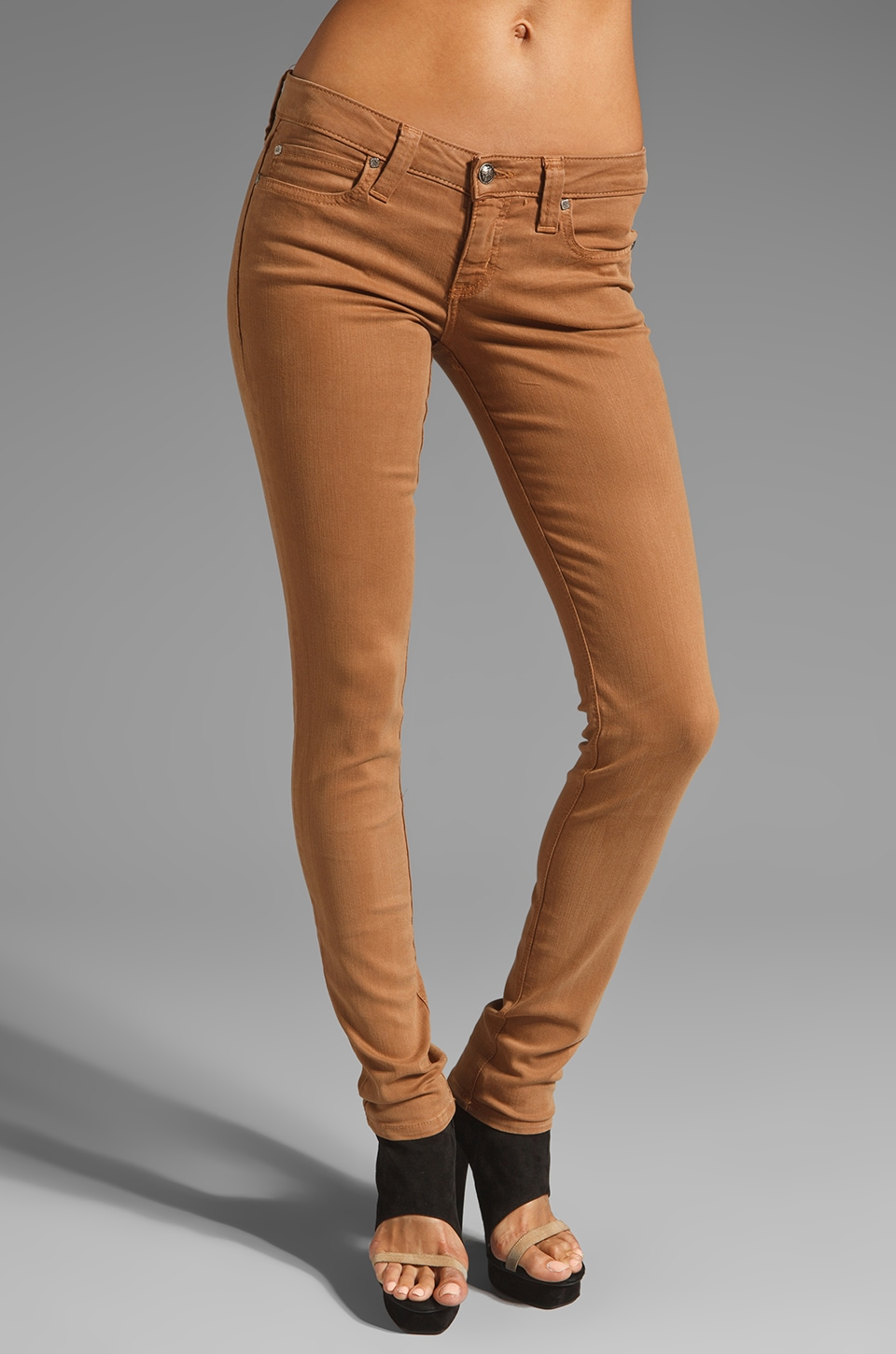 Frankie B. Jeans Jilted Lover Jegging in Camel