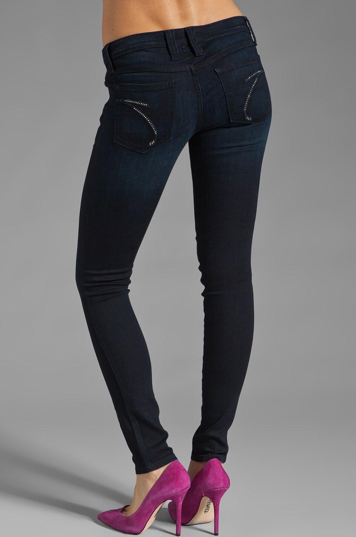 Frankie B. Jeans Edie Stud Pocket Skinny in Ocean