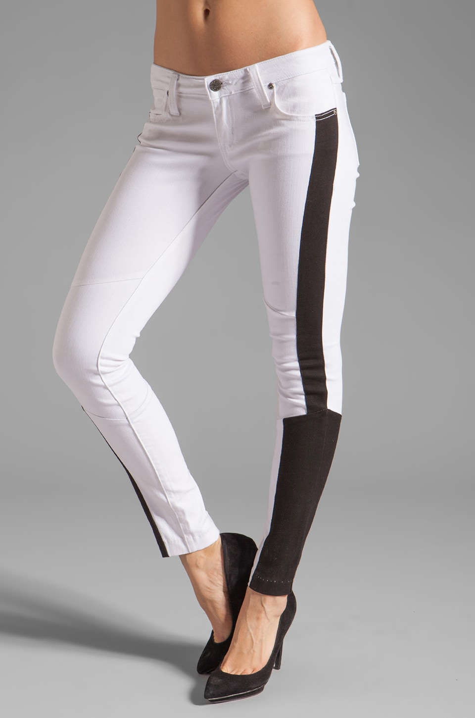 Frankie B. Jeans Empire Skinny in White