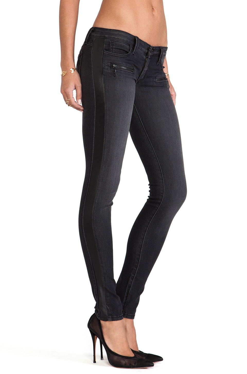 Frankie B. Jeans Guitar Hero Jeggings in Onyx
