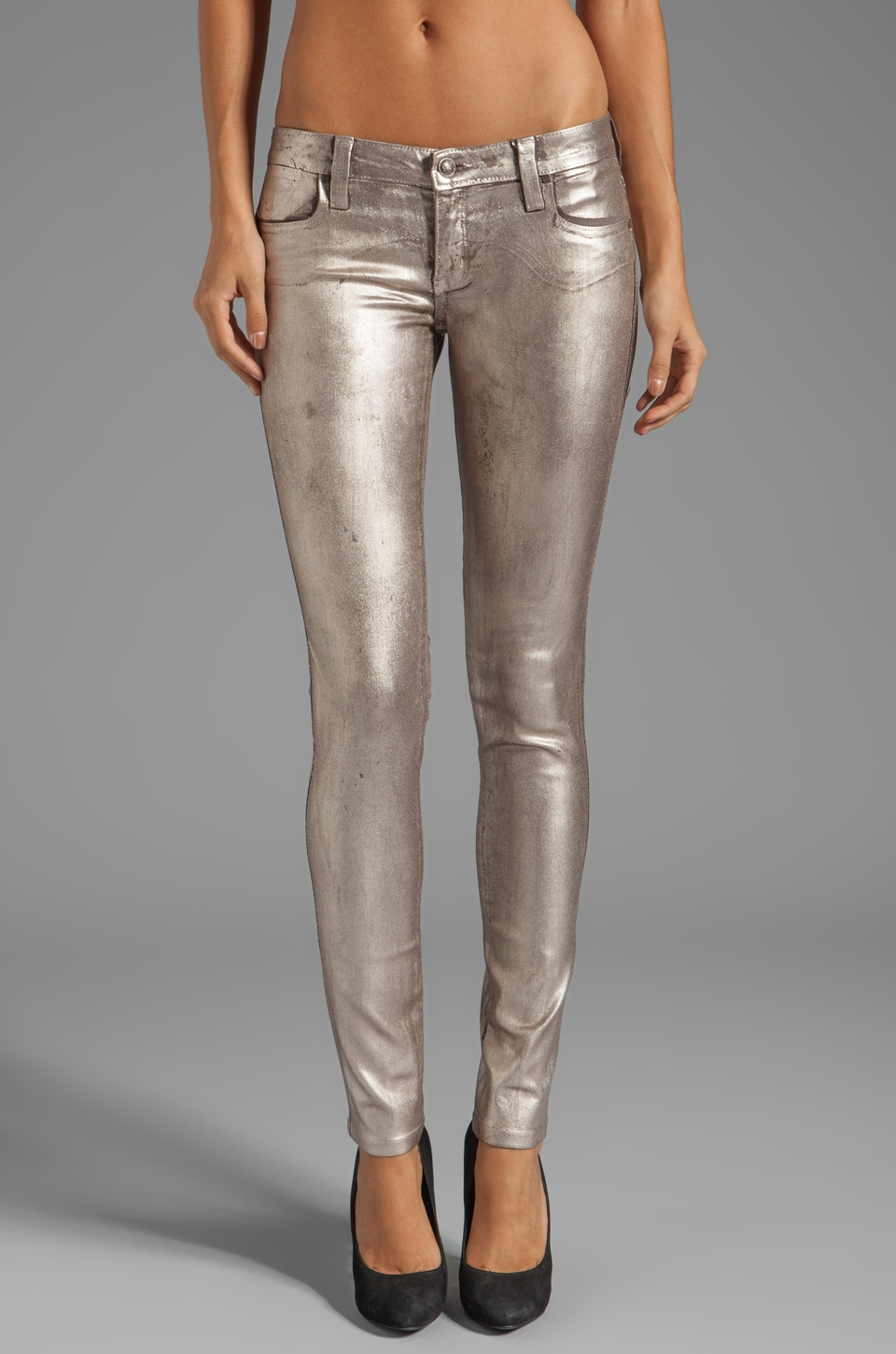Frankie B. Jeans My BFF Jegging in Chrome