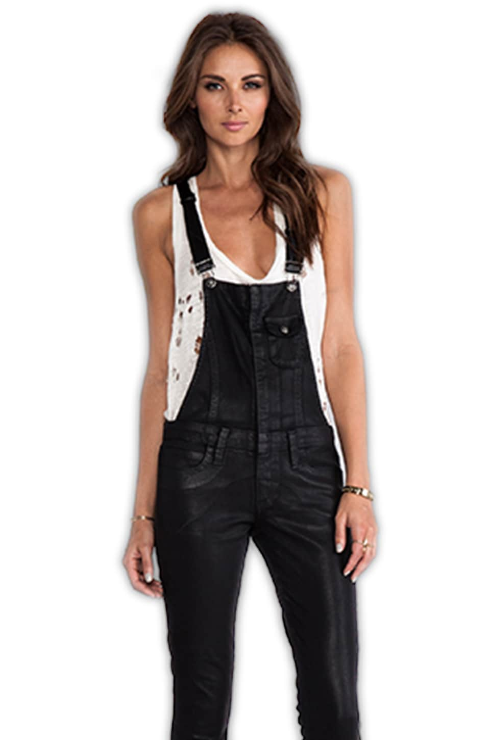 Frankie B. Jeans Hipster Overall in Black
