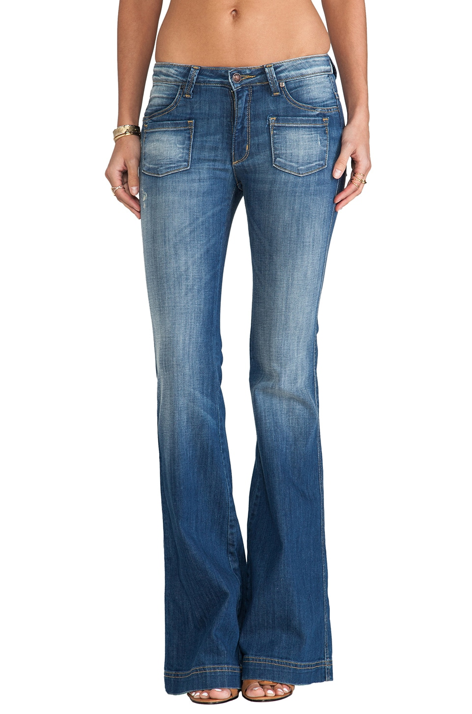 Frankie B. Jeans Carly Hi Rise Wide Leg in Japan Blue