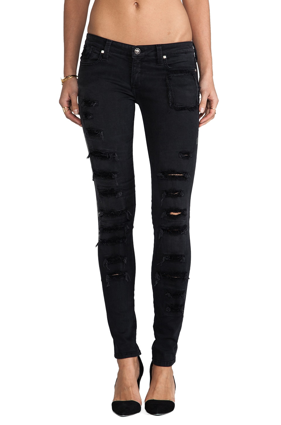 Frankie B. Jeans More Loved Skinny's in Black