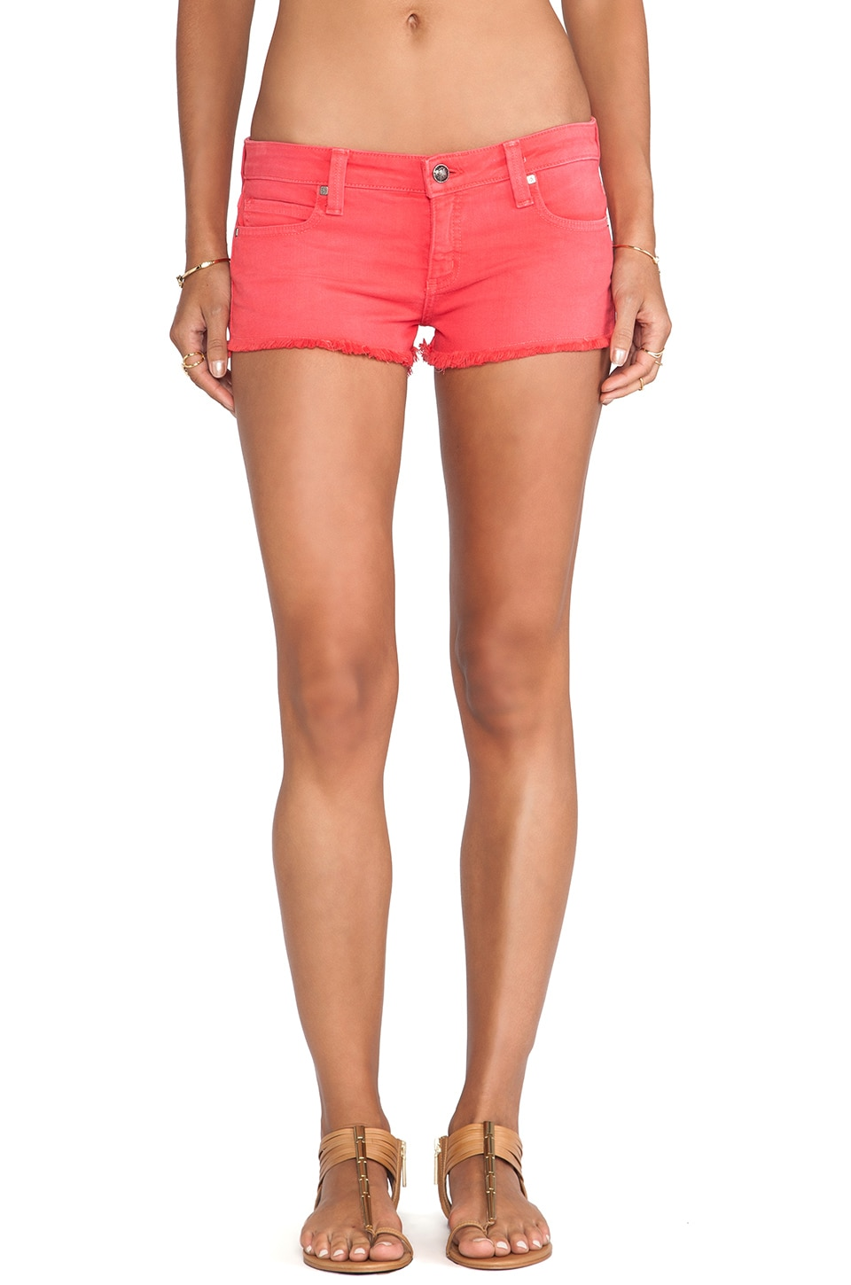 Frankie B. Jeans Summer Short in Red