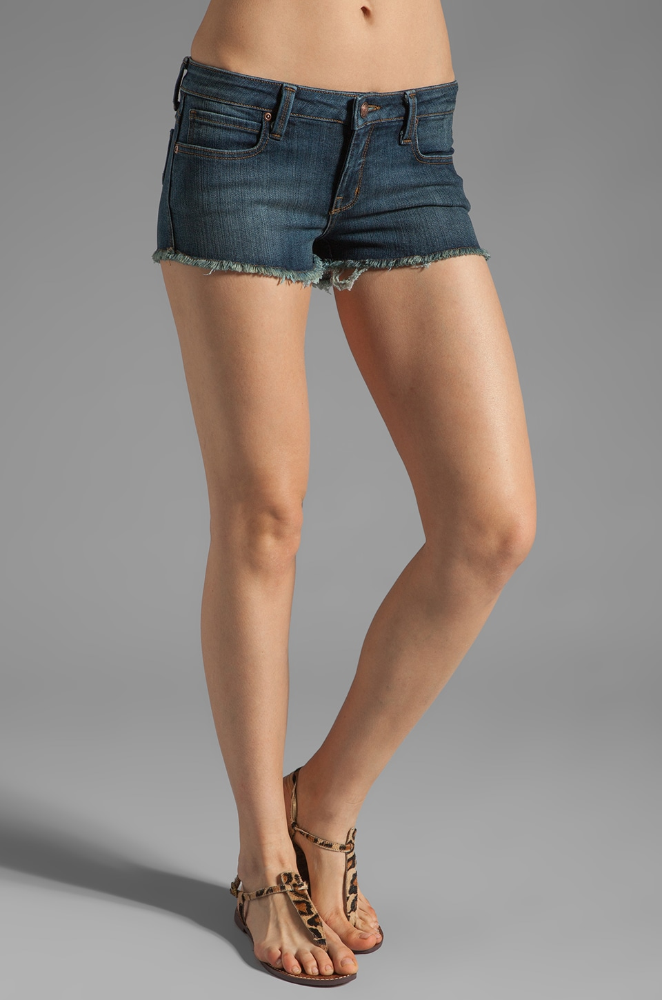 Frankie B. Jeans Sweet Bow Short in Frisco