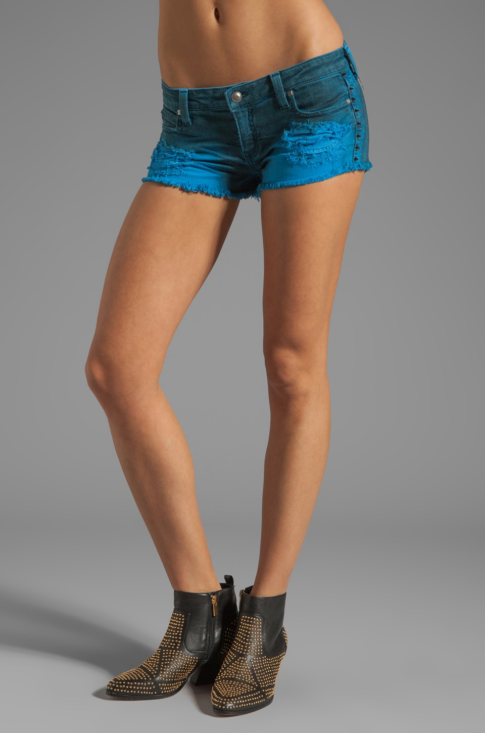 Frankie B. Jeans Underworld Short in Dirty Turquoise