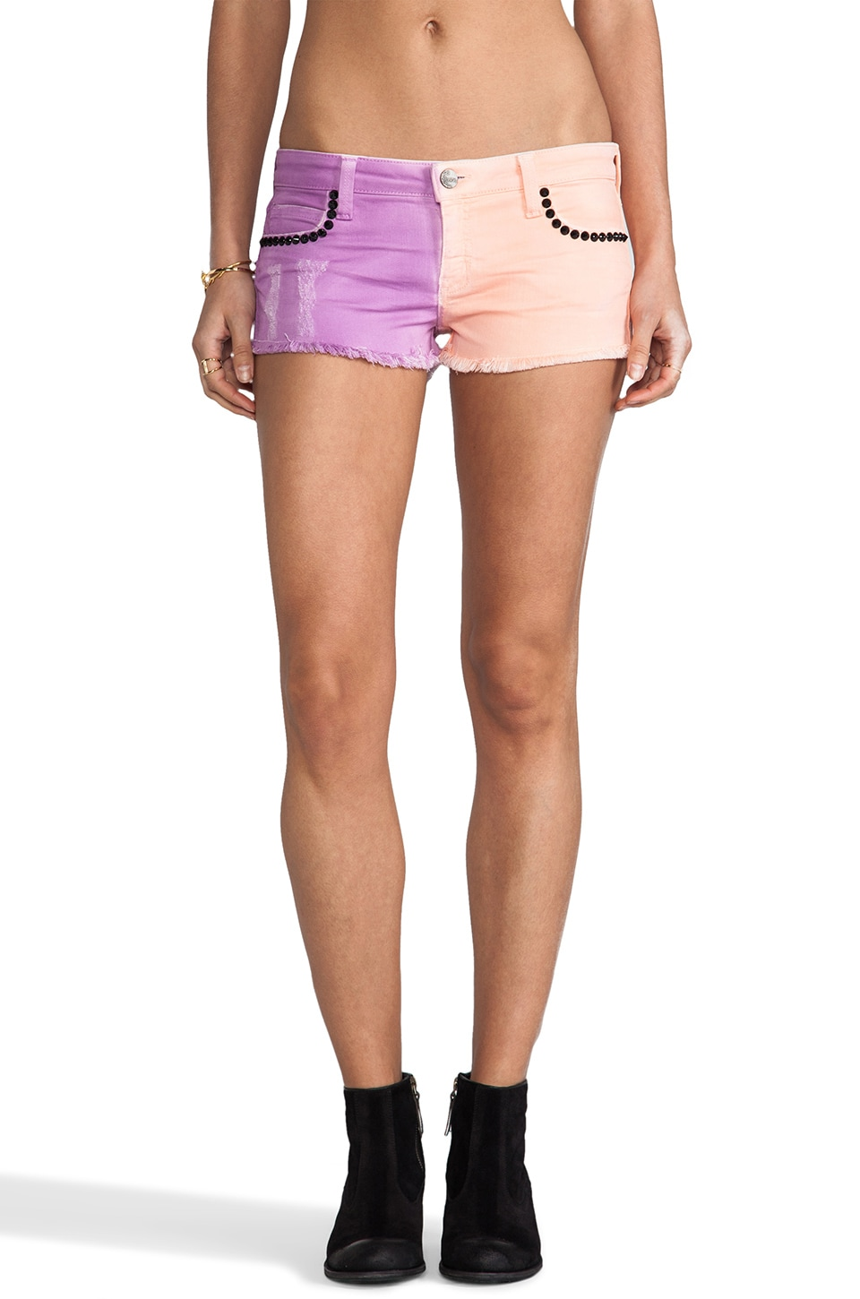 Frankie B. Jeans Twinster Short in Candy