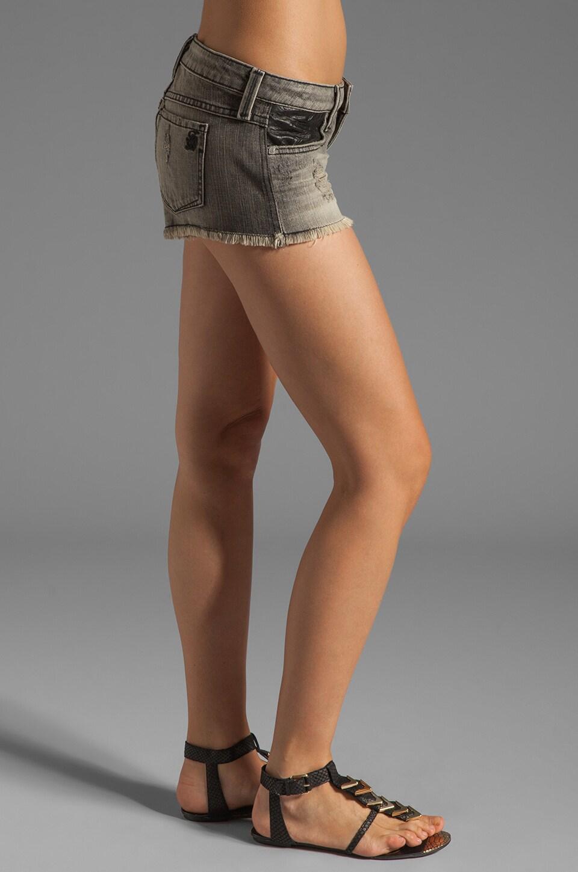 Frankie B. Jeans Trick Short with Pocket Detail in Black