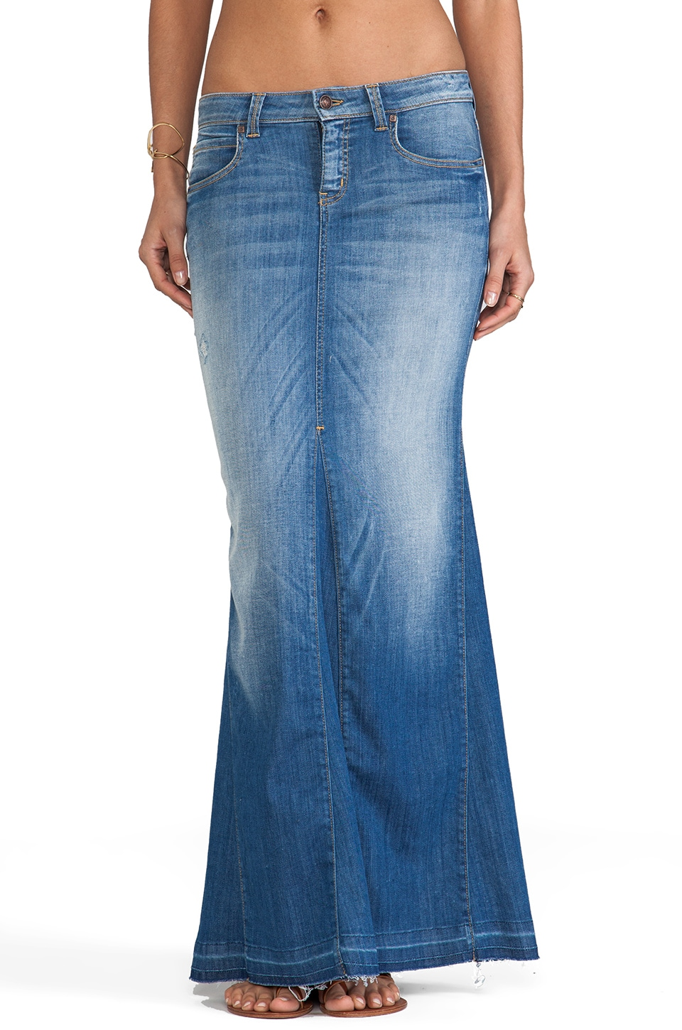 Frankie B. Jeans Astral Maxi Skirt in Lover Blue