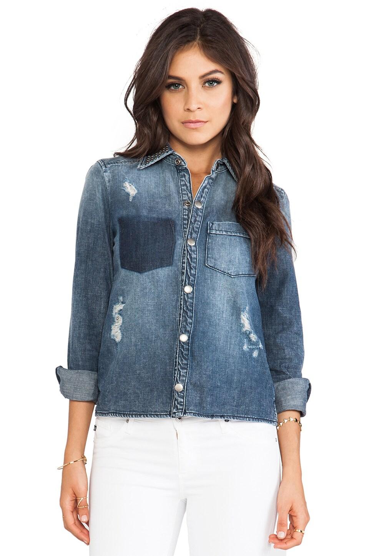 Frankie B. Jeans Lover Denim Top in Vintage