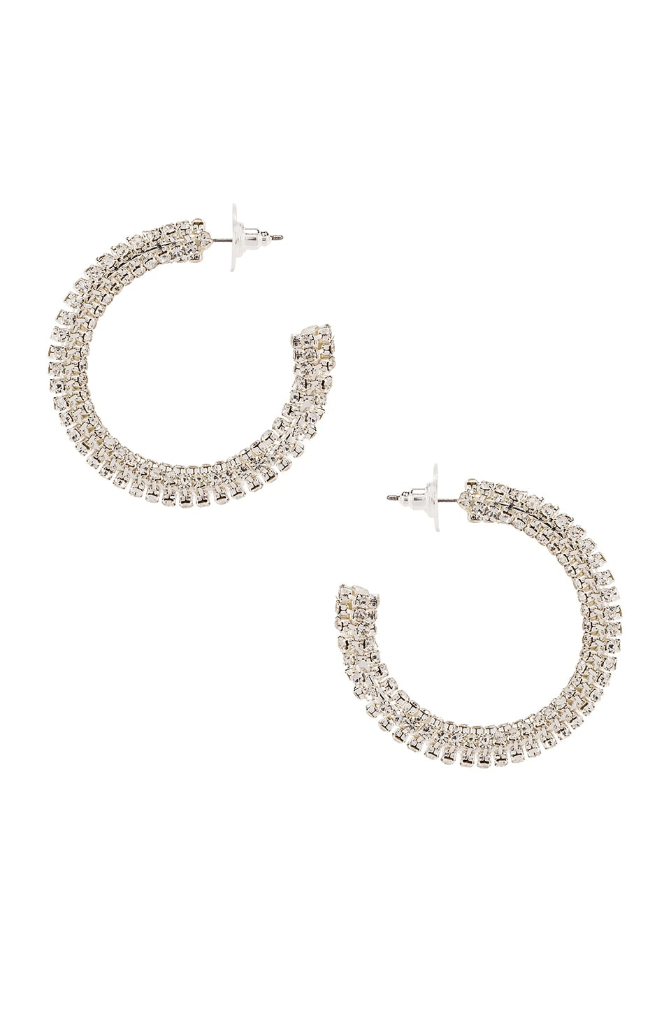 Frasier Sterling Magic Touch Hoops in Gold