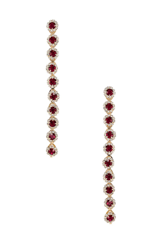 Frasier Sterling Cheers Drop Earrings in Red & Gold