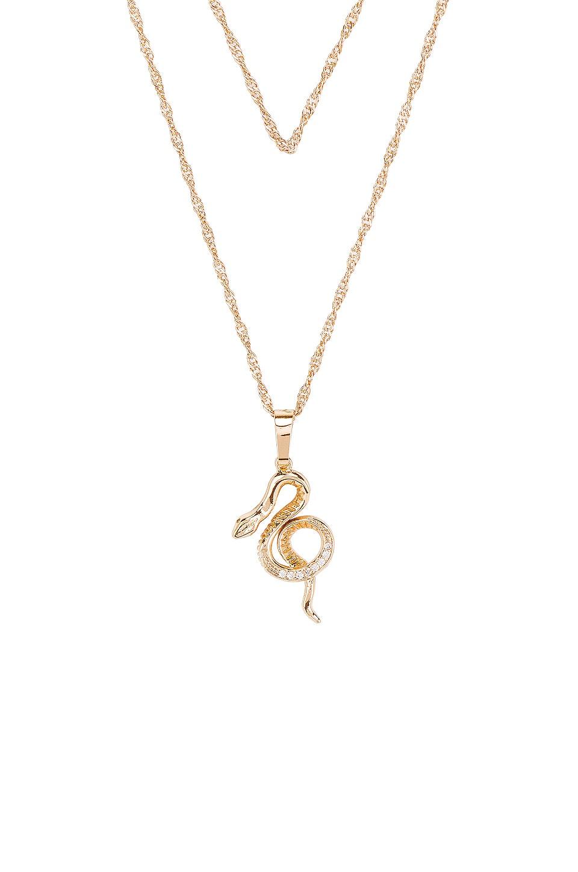 Frasier Sterling Snake Charmer Prelayer Necklace in Gold