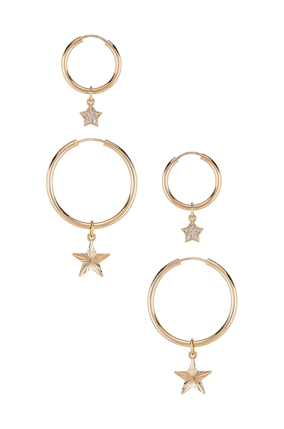 Frasier Sterling Northern Star Duo Earring in Gold