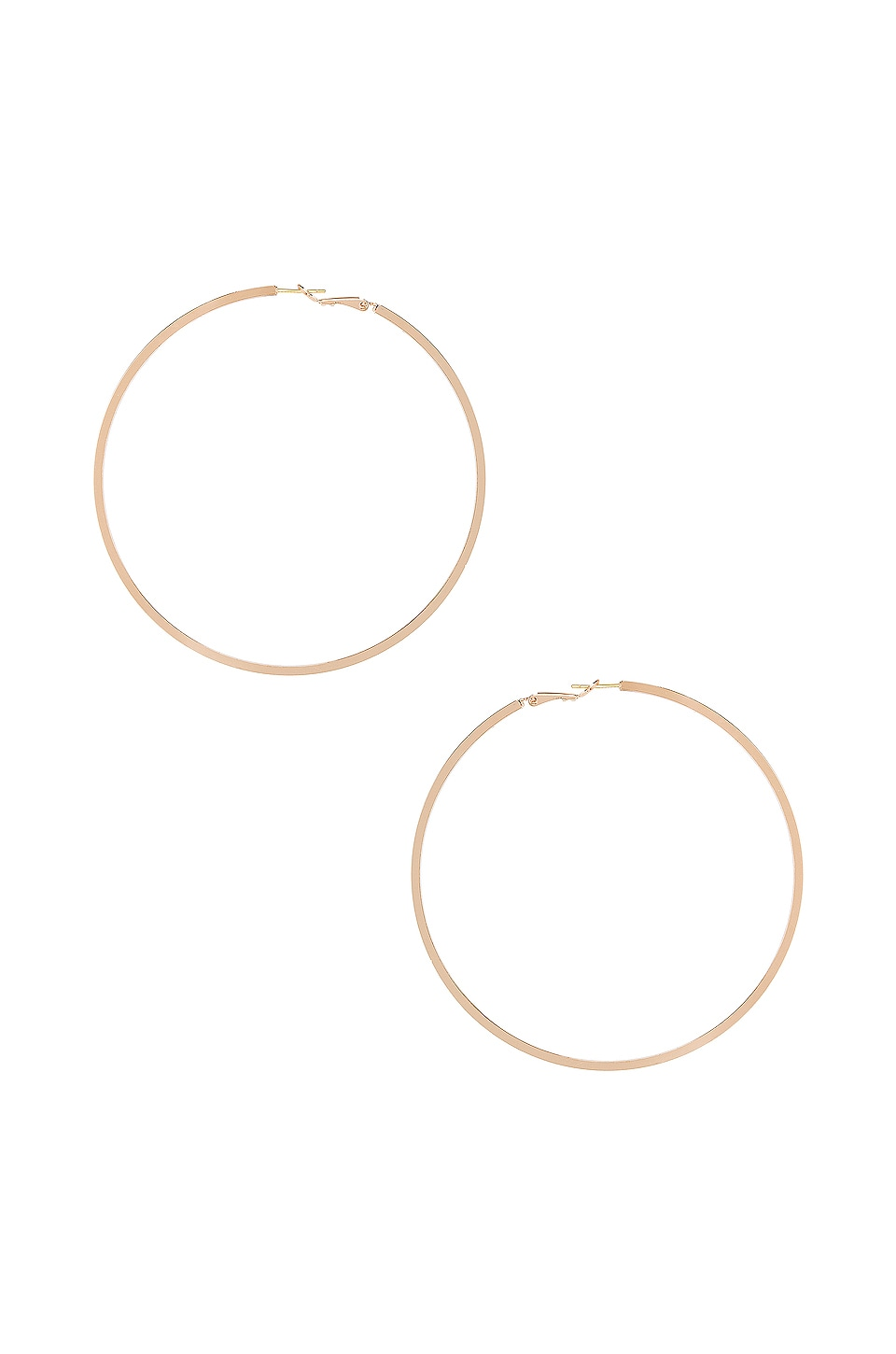 Frasier Sterling Divine Hoop Earrings in Gold