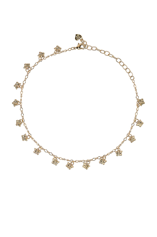 Frasier Sterling Butterflies Choker Necklace in Gold