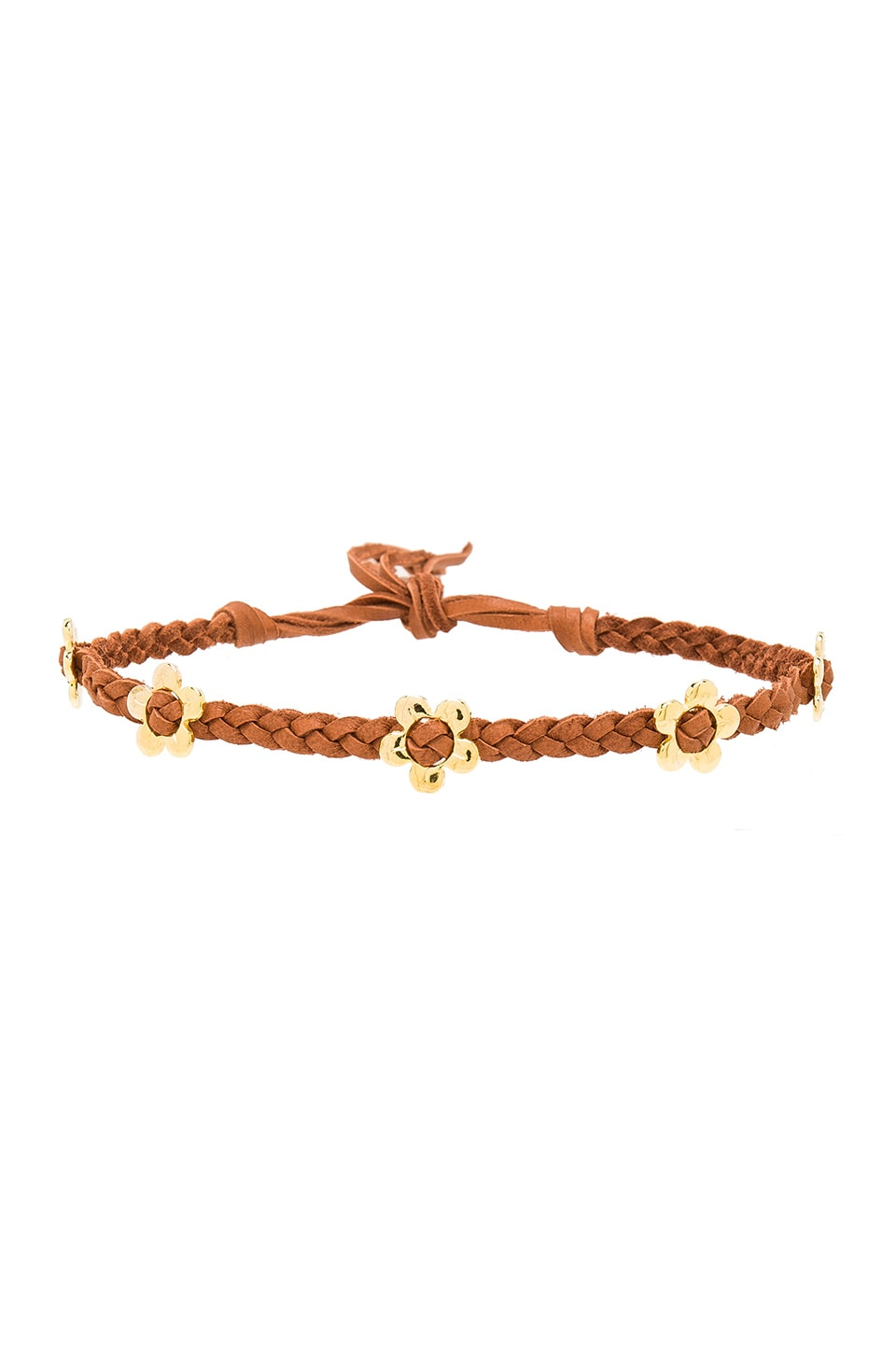 Frasier Sterling Flower Power Choker in Cognac