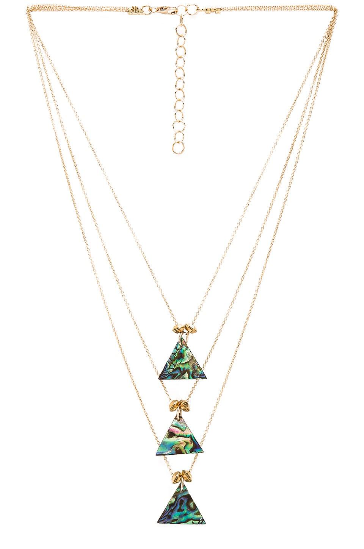 Frasier Sterling Three Tier Dakota Necklace in Gold
