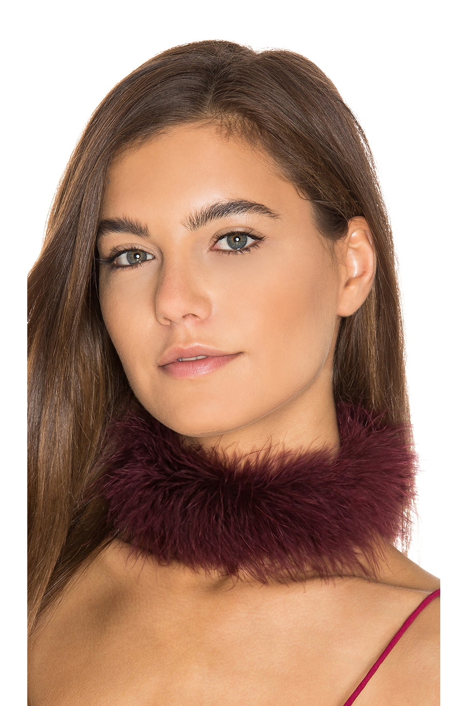 Frasier Sterling Foxy Choker in Wine