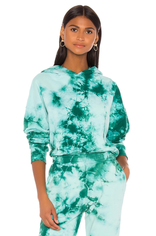 Frankies Bikinis Burl Sweatshirt in Emerald Tie Dye
