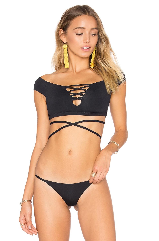 Frankies Bikinis Shiloh Top in Black