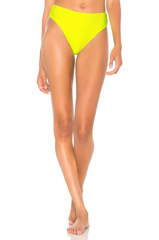 Frankies Bikinis Jenna Bottom in Lemon Drop Yellow