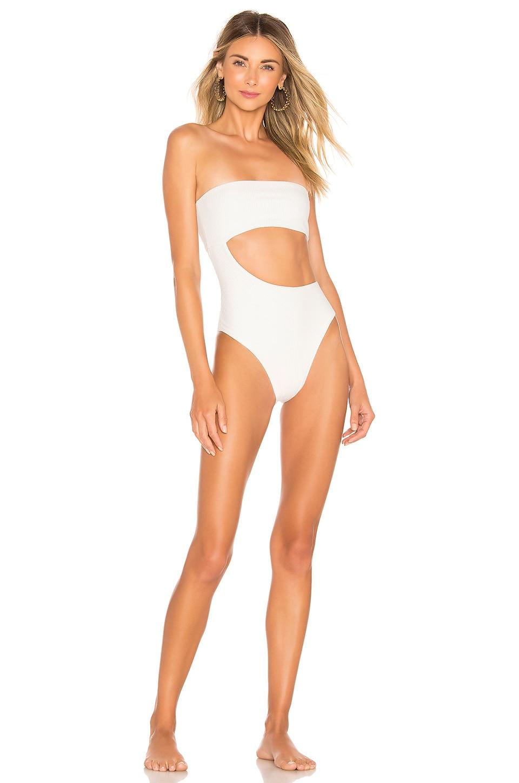 Frankies Bikinis Carter One Piece in White
