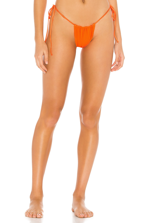 Frankies Bikinis Tia Bottom in Tangerine