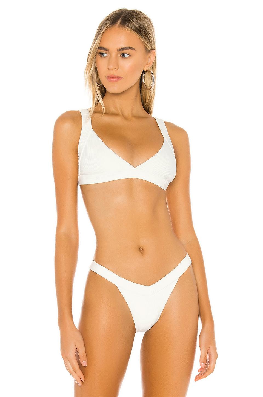 Frankies Bikinis Georgia Top in White