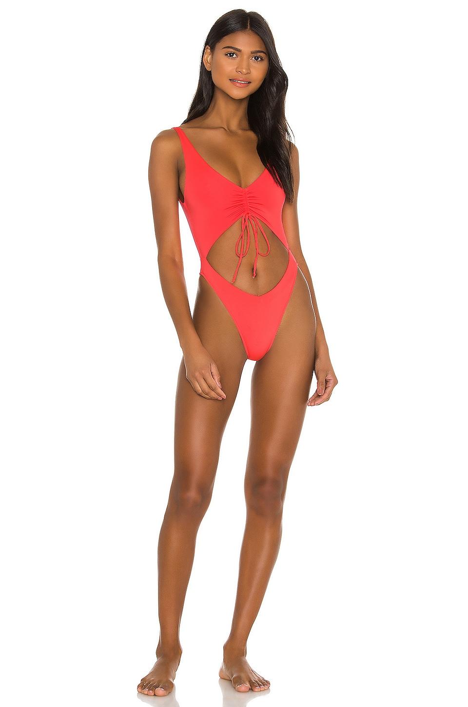 Frankies Bikinis Emma One Piece in Coral