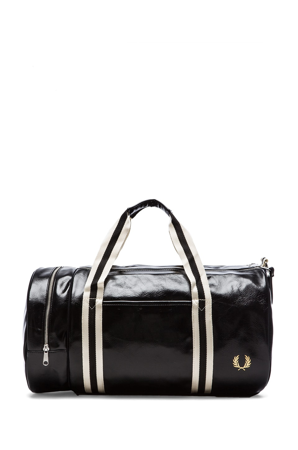Fred Perry Classic Barrel Bag in Black/ Gold