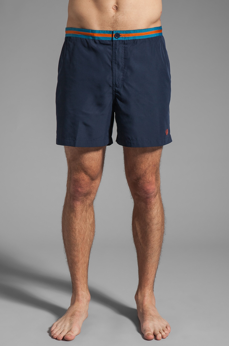 Fred Perry Taped Waistband Short in Dark Carbon