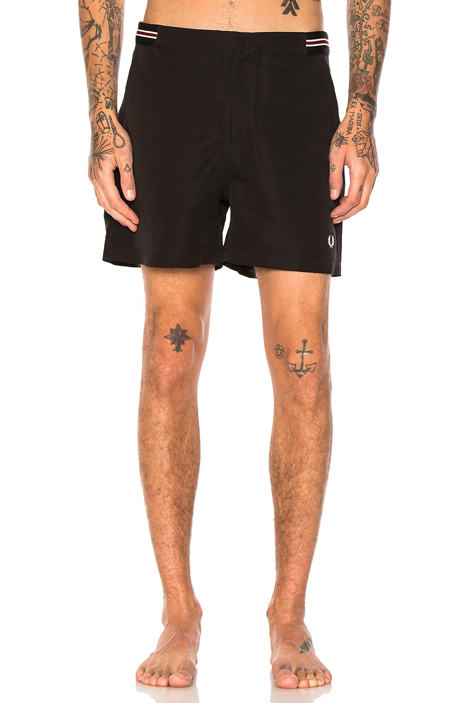 Bomber Tape Swim Shorts by Fred Perry