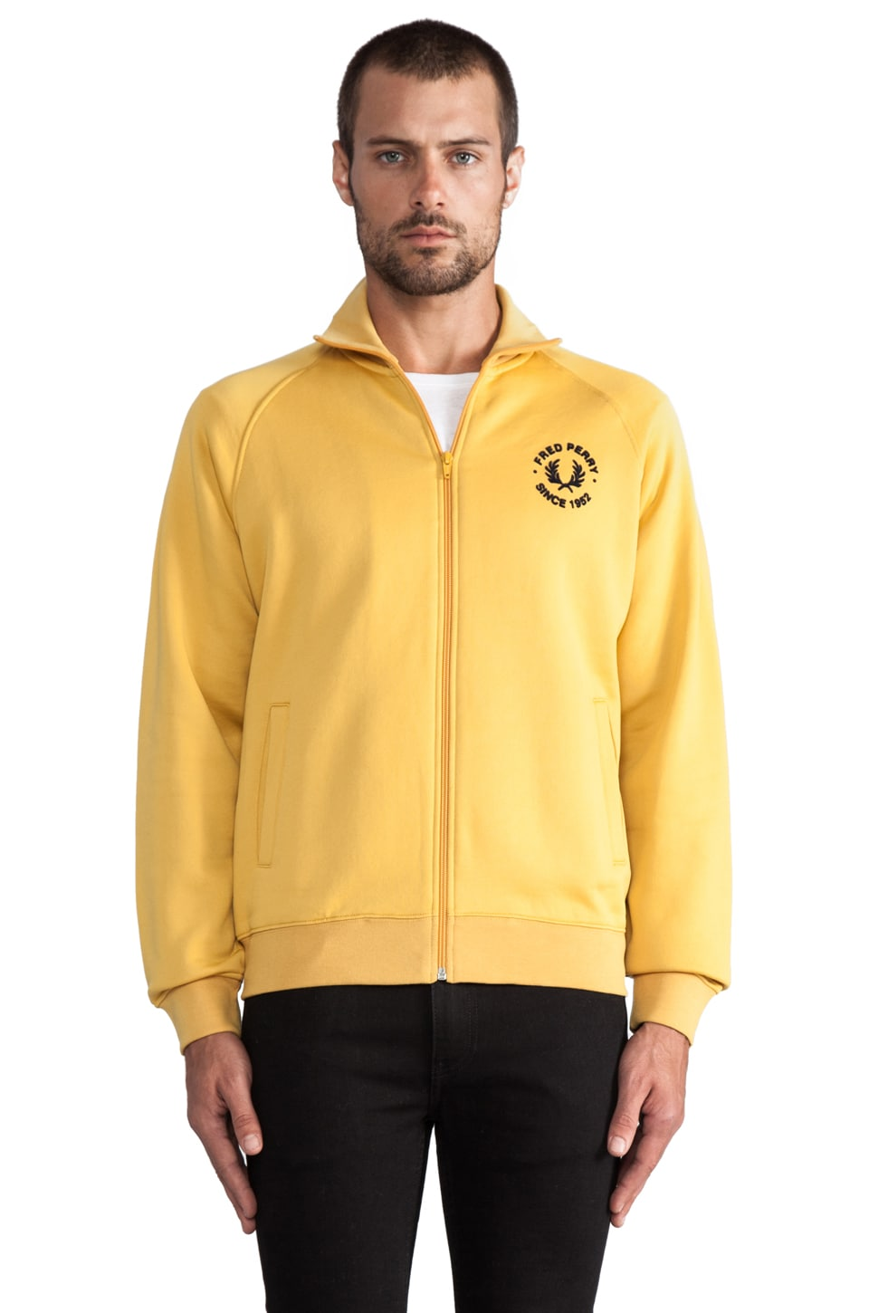 Fred Perry Track Jacket in Mustard/Navy