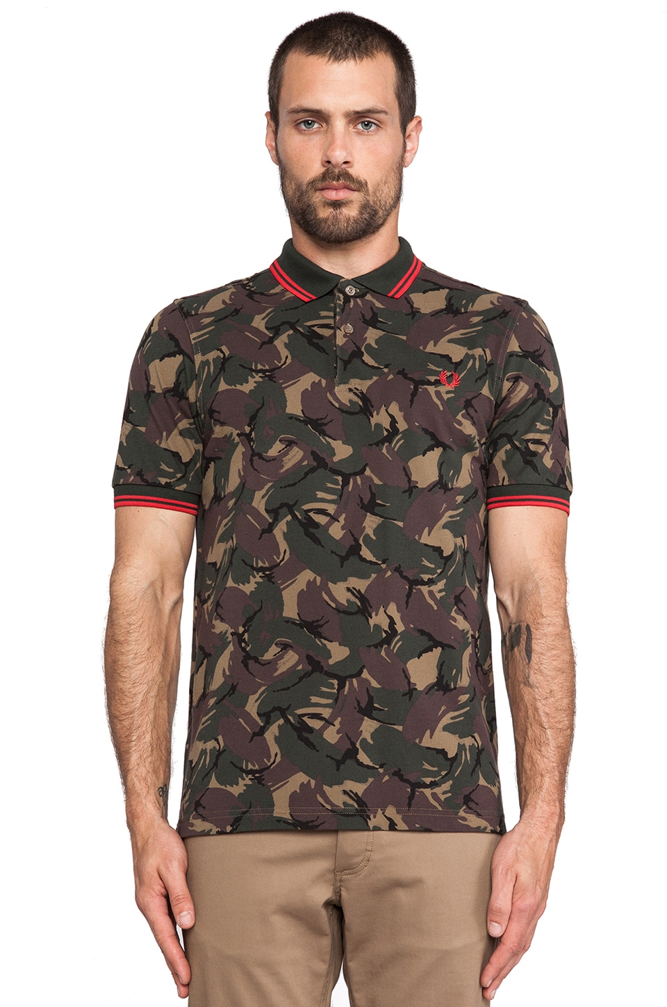 Fred Perry Margate Collection Camo Shirt in Twill