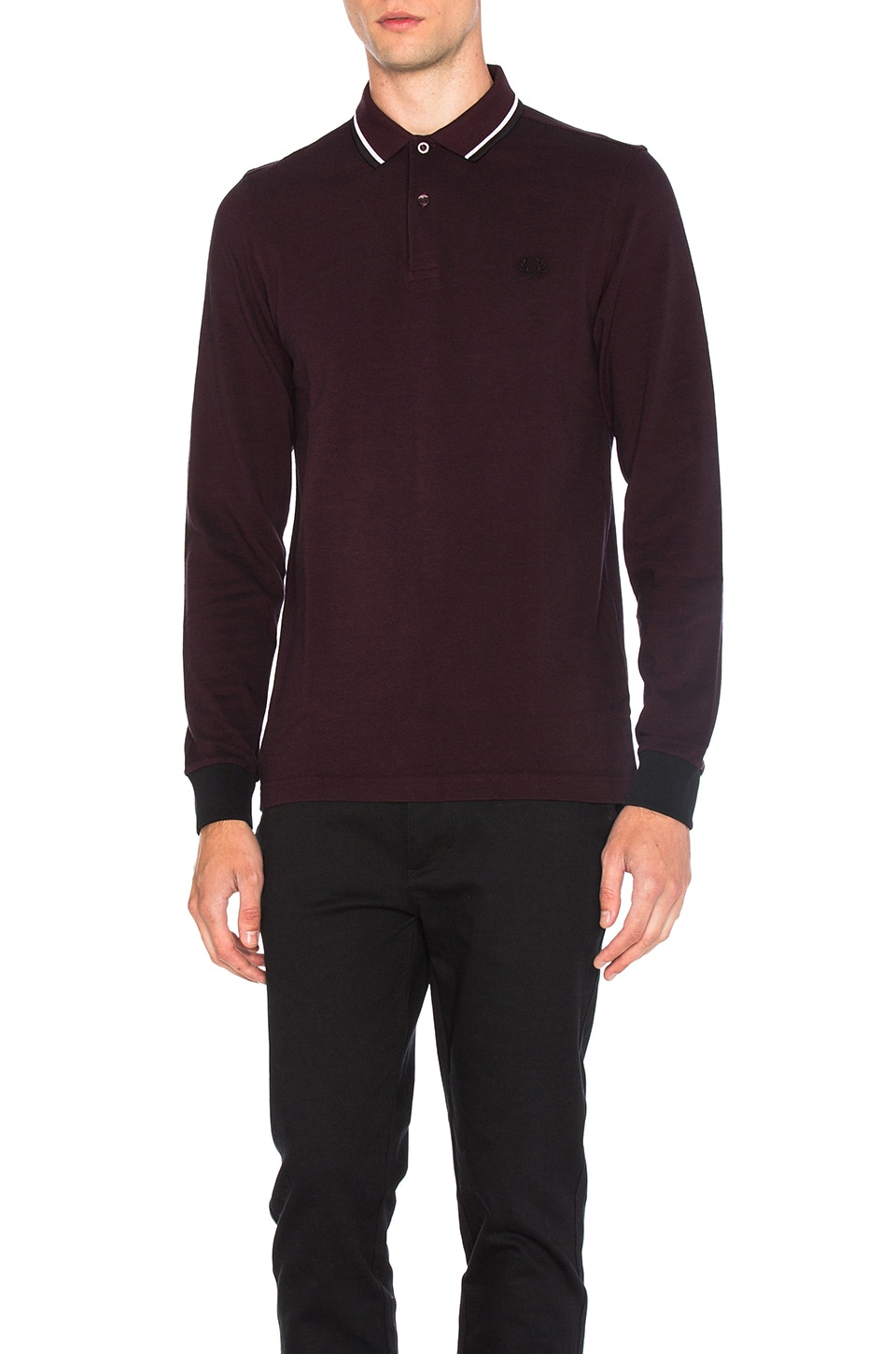 Photo of Long Sleeve Twin Tipped Polo by Fred Perry men clothes