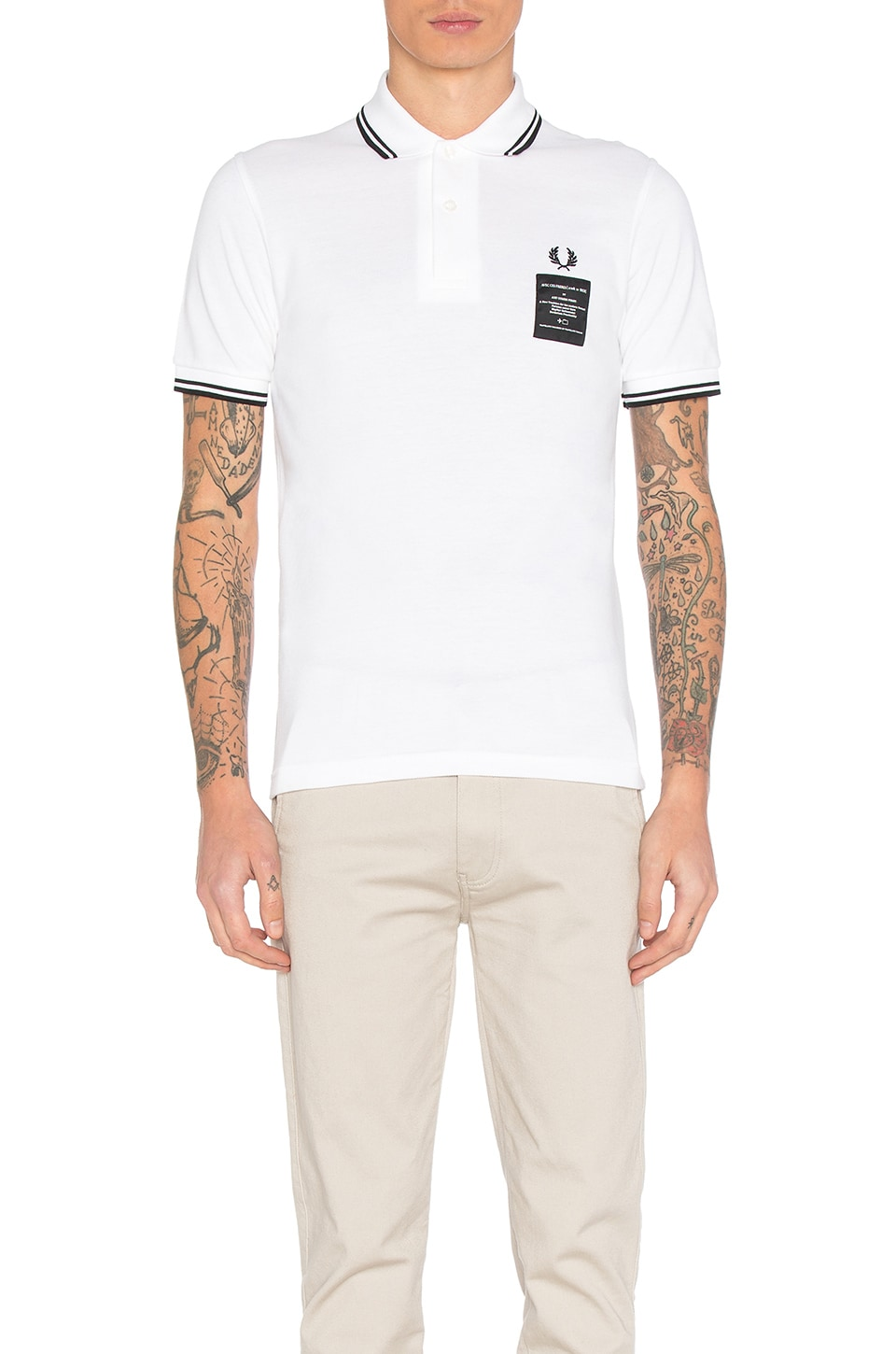 x Art Comes First Printed Twin Tipped Polo by Fred Perry