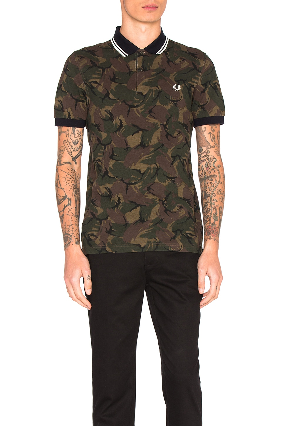 Camoflauge Pique Polo by Fred Perry