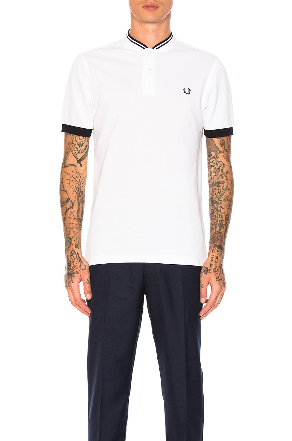 Bomber Collar Pique Shirt by Fred Perry