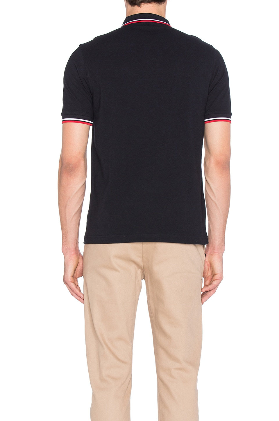 Fred Perry Slim Fit Twin Tipped Polo in Navy/White/Red