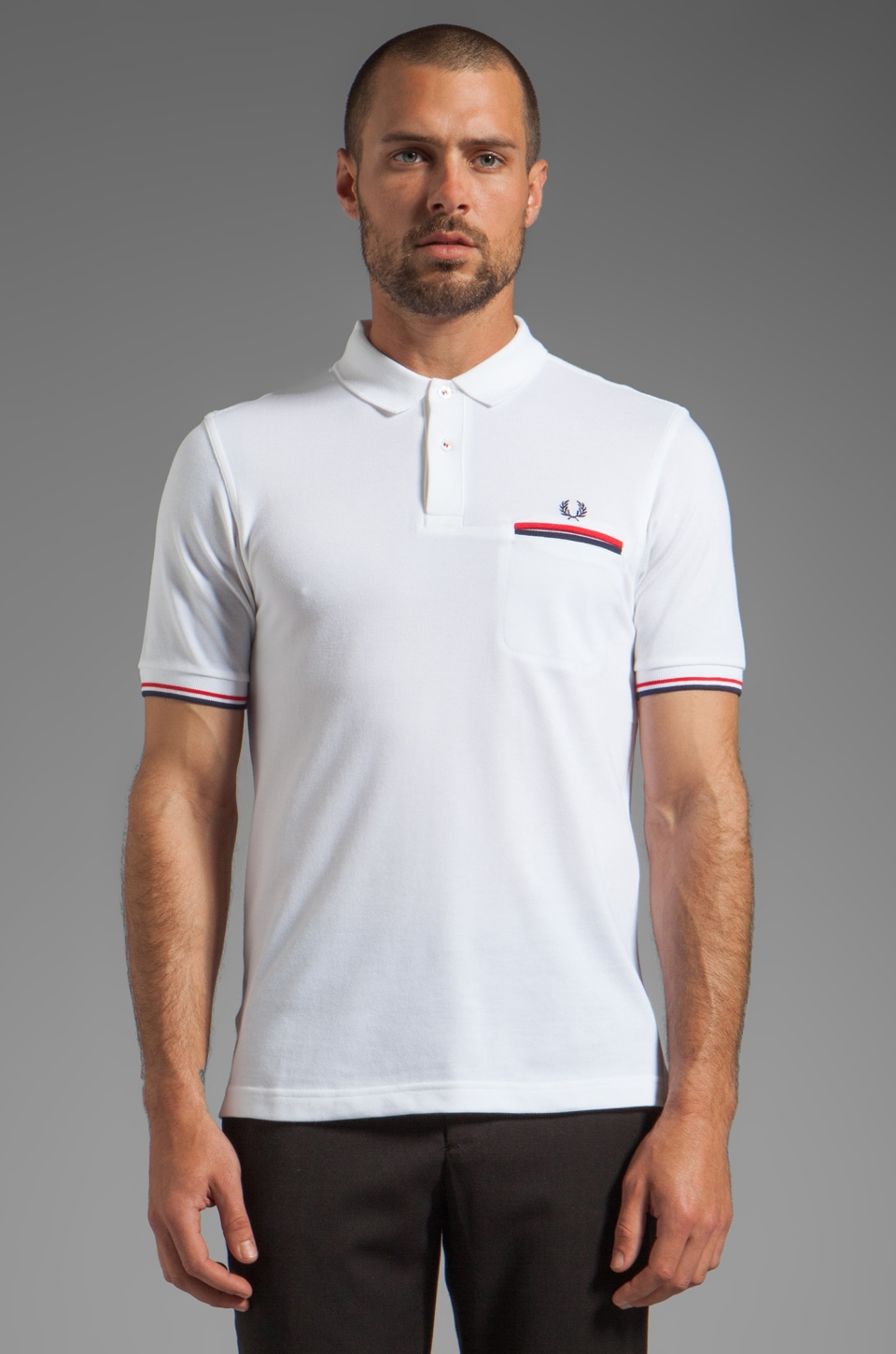 Fred Perry Piped Pocket Shirt in White